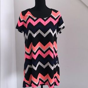 Tops - Short sleeve multicolor tunic